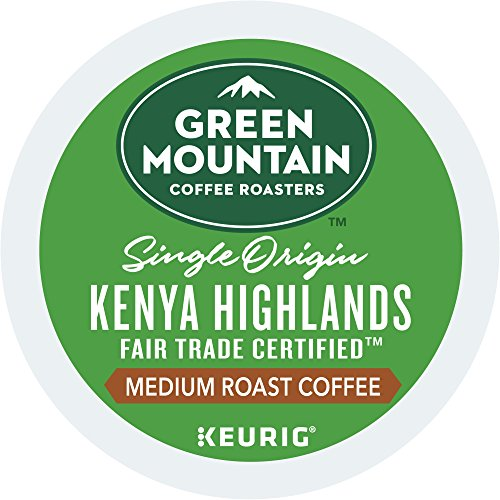 Green Mountain Coffee Roasters Kenya Highlands Keurig Single-Serve K-Cup Pods, Medium Roast Coffee, 72 Count (6 Boxes of 12 Pods)