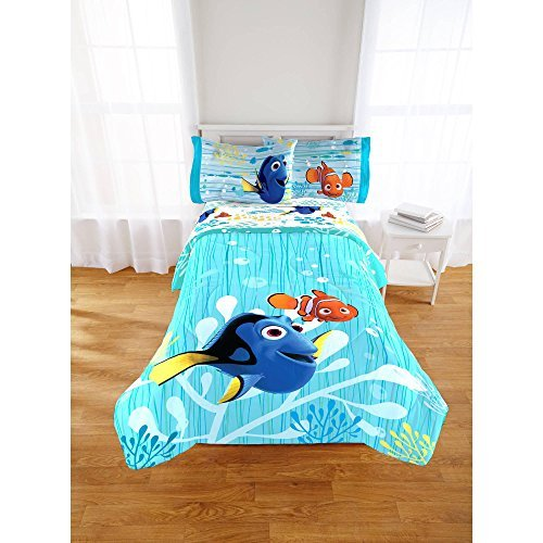Disney Finding Dory Bedding Set Comforter and Sheets (Full)