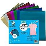 "Craftables Starter Pack Foil Heat Transfer Vinyl for Crafts. Each Sheet 9.8"" X 12"" - 7 Sheets"