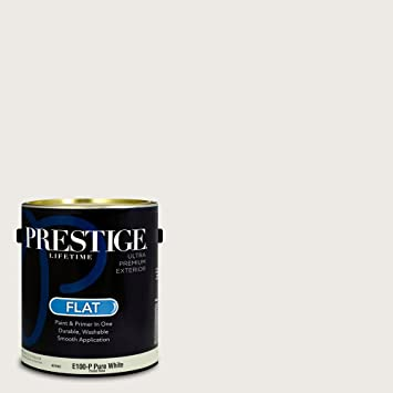 Prestige Paints Exterior Paint And Primer In One, 1 Gallon, Flat, Comparable
