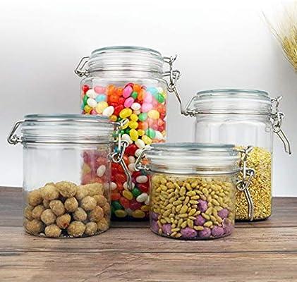 con coperchio rotondo contenitore per spezie contenitore per marmellata A0127 Contenitore ermetico in plastica 1500 ml