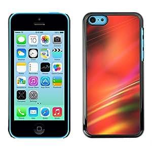 X-ray Impreso colorido protector duro espalda Funda piel de Shell para Apple iPhone 5C - Blurred Red Lines Black Abstract