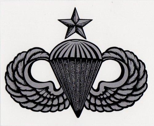 Senior Parachutist Badge (Army Senior Parachutist Badge Decal)