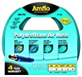 "Amflo 12-50E Blue 300 PSI Polyurethane Air Hose 1/4"" x 50' With 1/4"" MNPT Swivel Ends And Bend Restrictor Fittings from Amflo"