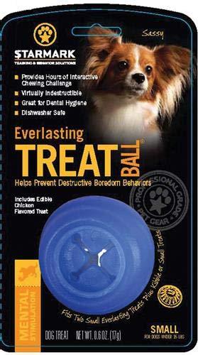 Starmark Everlasting Treat Ball Toy, Blue, Small ()