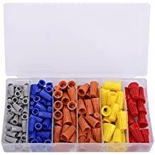 158PCS Electrical Wire Connectors Screw Terminals,with Spring Insert Twist Nuts Caps Connection Assortment Set