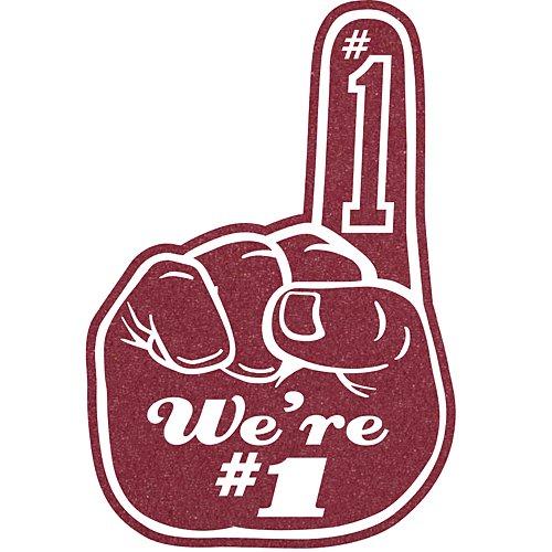 Shindigz Maroon We're Number One Foam (1 Foam Fingers)