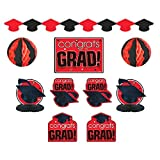 """Amscan """"Congrats Grad!"""" Graduation Party Room Decorating Kit, Red/Black, One Size"""