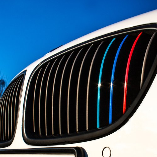 Wandkings Grille Stripe Decals For Kidney Grills   Reflective Colors  Dark Blue  Red  White Silver  Light Blue