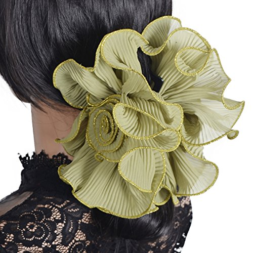- Large Hair Claw Clamp Jaw Clip Accessories Headwear F807 (F808-Apple Green)