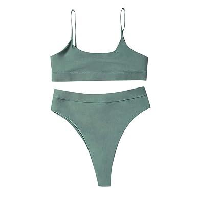 Amazon.com: Lmtime - Traje de baño para mujer con correa ...
