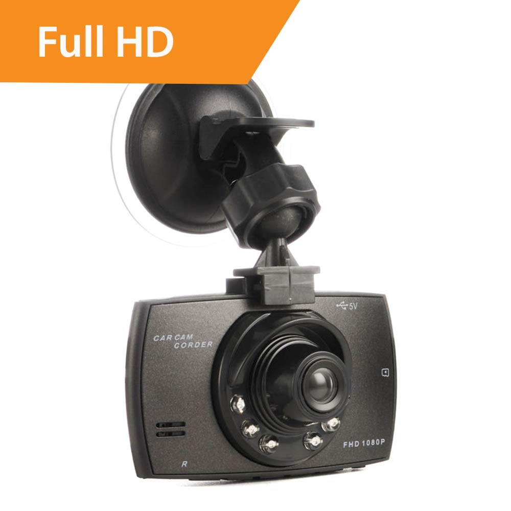 In Car Dash Cam with 1080p Full HD Camera 170 Wide Angle Lens 2.4' LCD Display and Night Vision EIG MP1928447