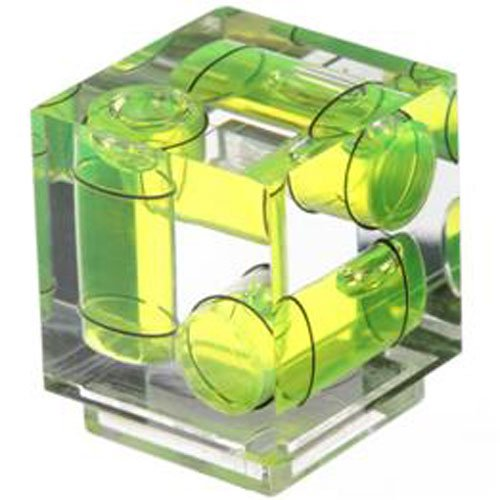 Axis Flash Hot Shoe Bubble (Polaroid Hot Shoe Three Axis Triple Bubble Spirit Level For Canon and Nikon Digital and Film Cameras)