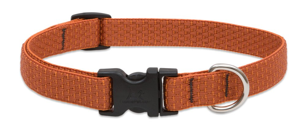 Lupine Eco 3 4-Inch Recycled Fiber Collar, Adjustable for 13 to 22-Inch Medium to Large Dogs, Pumpkin