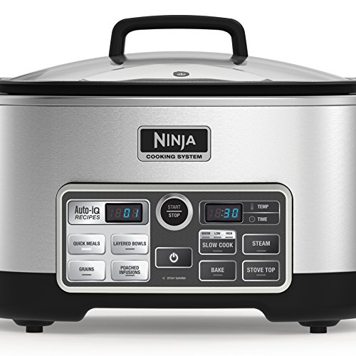 Ninja Auto Iq Multi Slow Cooker With 80 Pre Programmed Auto Iq Recipes For Searing Slow Cooking Baking And Steaming With 6 Quart Nonstick Pot Cs960 Pricepulse
