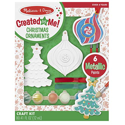Melissa & Doug Decorate-Your-Own Christmas Ornaments (Great Gift for Girls and Boys - Best for 8, 9, 10, 11, 12 Year Olds and Up) (Make Kids To Ornaments Homemade For Christmas)
