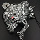 Chrome Ghost Head Wind head horn cover For 1992 and up Harley-Davidson with side mount ''cowbell'' and all V-rod's with LED light