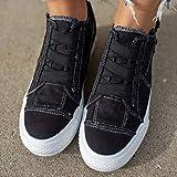 Women's Flat Canvas Espadrille Shoes Slip On Zipper Walking Runing Sneaker Loafer Casual Nurse Shoes for Girls