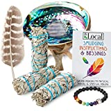 JL Local 3 White Sage Smudge Gift Kit - Abalone Shell