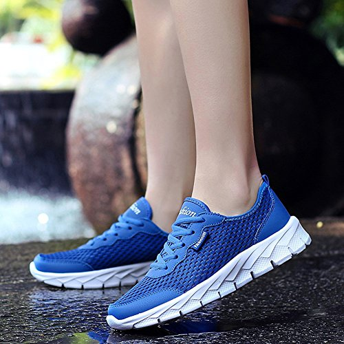 Breathable Girls Running Lace Matari Mesh Shoes Weight Blue Women's Light up wOxBq7f