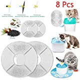Clearance Sale!UMFun 8Pcs Flower Style Filter For Automatic Cat Dog Kitten Water Drinking Fountain Filter Core (8Pcs)