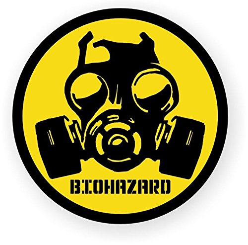 (1 Pc Heart Stopping Unique Biohazard Symbol Zombie Car Sticker Window Permit Hard Hat Decals Wall Laptop Art Funny Infectious Disease Vinyl Stickers Decal Decor Patches Size 2