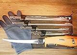 American Angler PRO Professional Grade Electric Fillet Knife Sportsmen's Kit - 110 Volt High Performance Ergonomic Motorized Handset with Five Kinds of Stainless Steel Blades, 32352DS