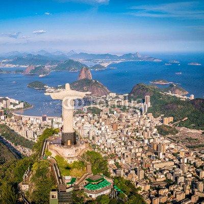 "Leinwand-Bild 90 x 90 cm  ""Rio de Janeiro, Brazil   Aerial view of the city"", Bild auf Leinwand"