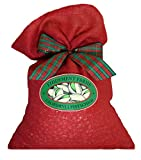 Fiddyment Farms 25 Lb. Lightly Salted Pistachios in Red Burlap Gift Bag