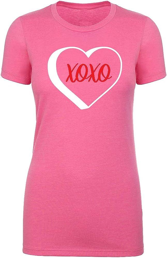 XOXO Womans Crew Neck Shirts Womans Valentines Day T-Shirts Valentines Shirts