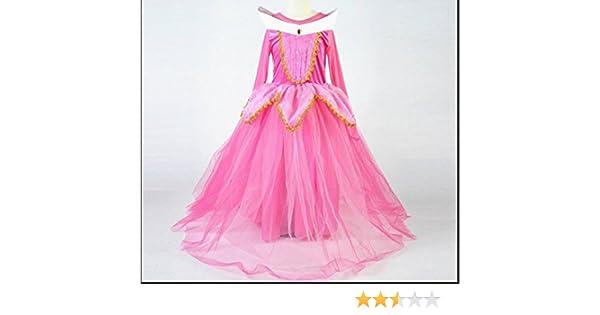 Vestido para niñas de princesa Aurora, disfraz de bella durmiente: Amazon.es: Bricolaje y herramientas