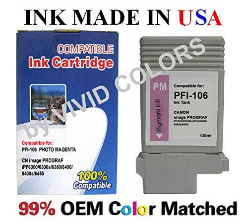 New Compatible PFI106 PFI105 Photo Magenta ink Cartridge for IPF6400s IPF6400 IPF6450