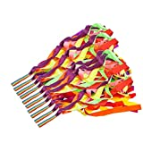 Dance Ribbons - Amytalk 10 Pieces Rhythmic Ribbon Gymnastic Dance Streamers Rainbow Hand Held Dance Ribbon for Kids, Baton Twirling, Assorted Colors