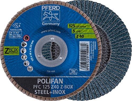 [Gesponsert]PFERD 69300934 Z Box POLIFAN-Fächerscheibe, 10 x 125 mm / 22,23 mm Bohrung