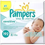 Pampers Sensitive Baby Wipes Refills, 192 sheets