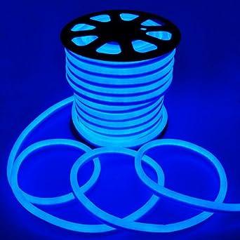 Amazon 150 flex led neon rope light blue holiday 150 flex led neon rope light blue holiday decorative lighting flexible cool illuminated led neon mozeypictures Images