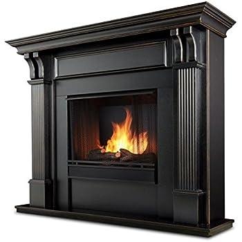 Amazon.com: Calie Gel Fireplace in Mahogany (Black Wash): Home ...
