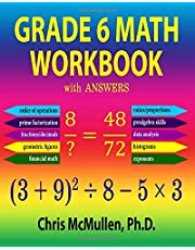Grade 6 Math Workbook with Answers