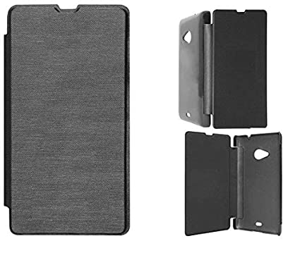 sports shoes ba2c5 8787d Flip Cover Case For Xolo A500s Lite Black: Amazon.in: Electronics