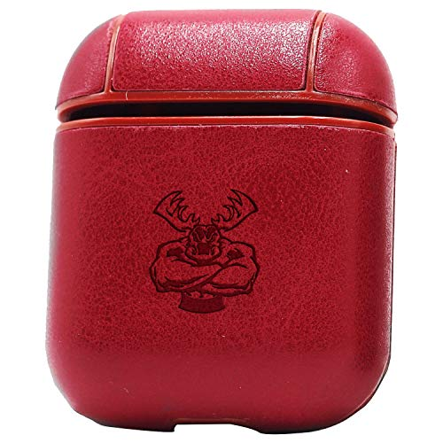 - Logo Moose Off Road Apparel (Vintage Pink) Engraved Air Pods Protective Leather Case Cover - a New Class of Luxury to Your AirPods - Premium PU Leather and Handmade exquisitely by Master Craftsmen