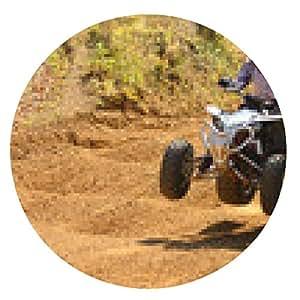 alfombrilla de ratón El piloto de motos quad salta - ronda - 20cm