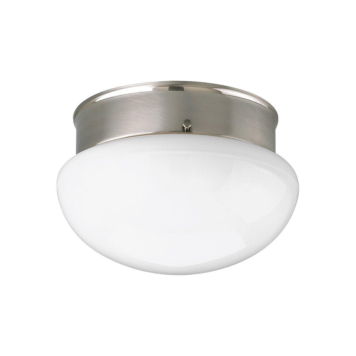 Progress Lighting P3408-09 1-Light Close-To-Ceiling Fixture, Brushed Nickel