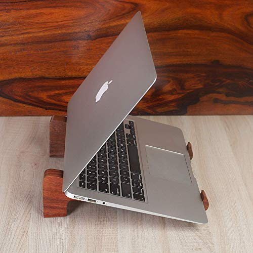 Rusticity Wood Laptop Stand, Handmade Laptop Holder, Stand for Notebook Computer MacBook Air Mac Pro and iPad Pro, HP, DELL, Acer, Toshiba, Surface, Lenovo etc.| Handmade| (10.53x0.78x2.92 in)