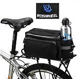 Click Down Best New Black Multi-functional Bicycle Rear Seat Trunk Bag Shoulder Handbag Bag Pannier by AHMET