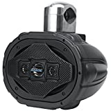 Bluetooth Marine Wakeboard Tower Speaker - 6x9 Inch 1200 Watt Four Way Audio Water Resistant Boat Sound System - in a Heavy Duty ABS Enclosure - Lanzar AQAWBS69BK (Black)