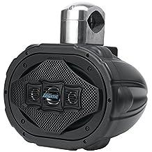 "Lanzar AQAWBS69BK Aquatic 6"" x 9"" Bluetooth Marine Wakeboard Speaker, 1200W (Black)"