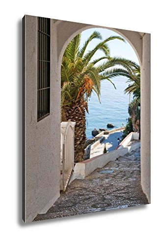 Ashley Canvas View Of The Mediterranean Sea, Wall Art Home Decor, Ready to Hang, Color, 20x16, AG6399736 by Ashley Canvas