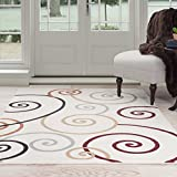 Lavish Home Swirls Area Rug, 8′ by 10′, Multicolor Review