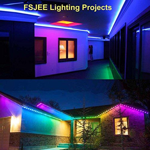 FSJEE 10mm 5050 RGB LED Strip Light Connectors Kits with 10PCS L Shape 4 Pin Right Angle Corner Solderless Connector and 10PCS Solderless Wire 4 Pin 10mm Wide Strip to Strip Jumper by FSJEE (Image #7)