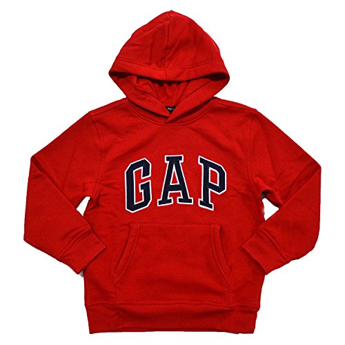 GAP Boys Fleece Arch Logo Pullover Hoodie (XXL, Red) from GAP